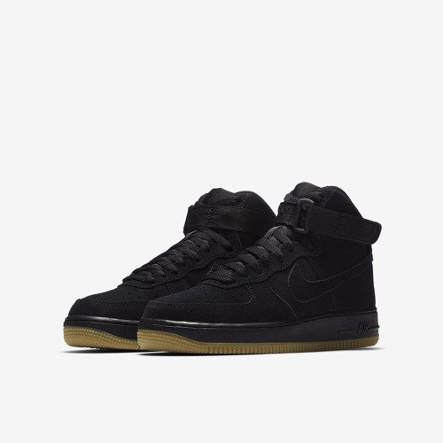 Buty juniorskie Nike Air Force 1 High LV8 Black/Gum 807617 002
